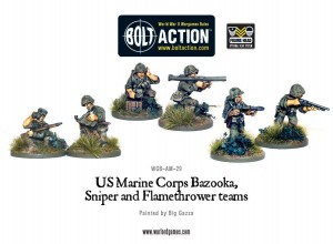 US Marine Corps Bazooka, Sniper & Flame Thrower teams