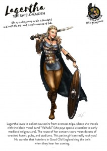 Hot & Dangerous: Lagertha, the Shieldmaiden (54mm)