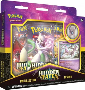 Pokémon TCG: Hidden Fates Pin Collection - MewTwo