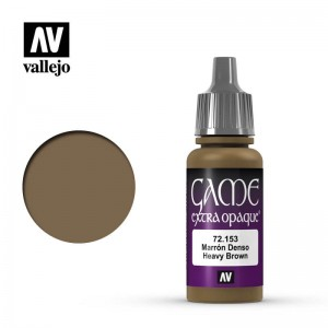 Vallejo Game Color Extra Opaque - Heavy Brown 72.153 17ml.