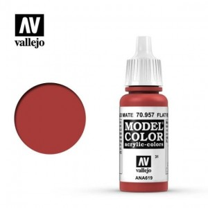 Vallejo Model Color - Flat Red 70.957 17ml.