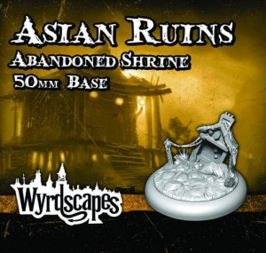 Asian Ruins Abondoned Shrine 50mm base
