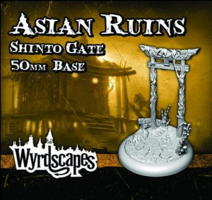 Asian Ruins Shinto Gate 50mm base