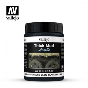 Vallejo Diorama Effects - Black Thick Mud 26.812 200ml.