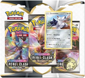 Pokemon TCG: Sword & Shield Rebel Clash 3pk Blister - Duraludon