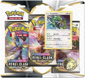 Pokemon TCG: Sword & Shield Rebel Clash 3pk Blister - Rayquaza