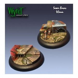 Sewer 40mm bases  - metal