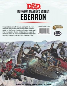 D&D 5.0: Dungeon Master's Screen - Eberron - Rising from the Last War