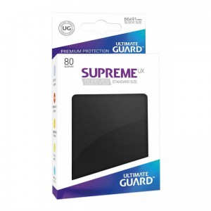 Supreme UX Standard 80 Sleeves - Black