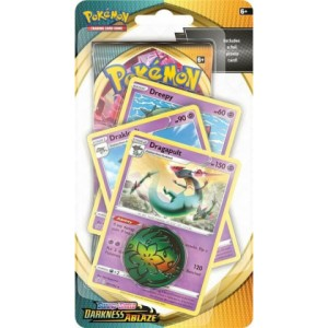 Pokemon Darkness Ablaze Checklane Blister Premium DRAGAPULT