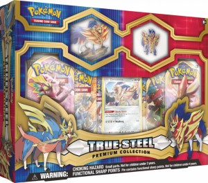 Pokemon Darkness Ablaze Figure & Pin Collection TRUE STEEL ZAMAZENTA