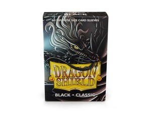 Dragon Shield Japanese (59x86mm) Art Sleeves - Classic Black (60 Sleeves)