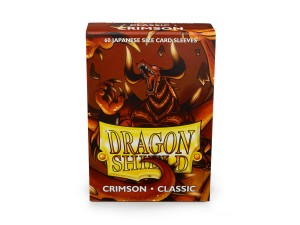Dragon Shield Japanese (59x86mm) Art Sleeves - Classic Crimson (60 Sleeves)