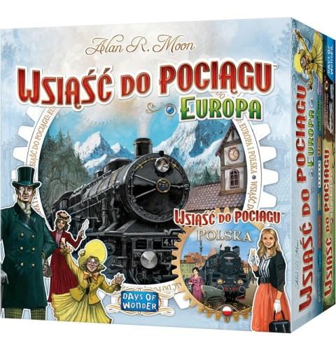 Wsiąść do Pociągu: zestaw Polska + Europa
