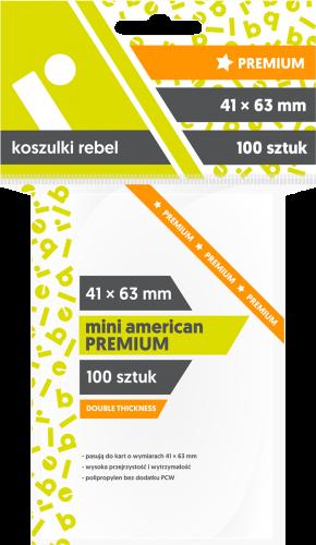 Koszulki Rebel: Mini American Premium 41x63mm, 100sztuk